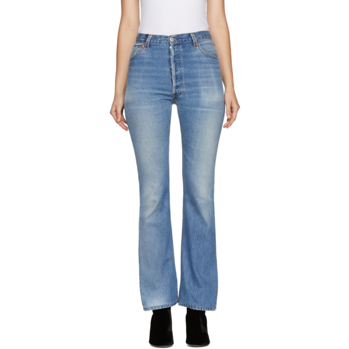 Re/Done Indigo Levi's Edition High-Rise Bootcut Jeans