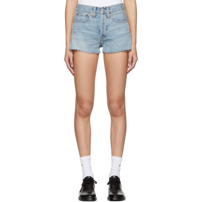 Re/Done Blue Originals Denim Shorts