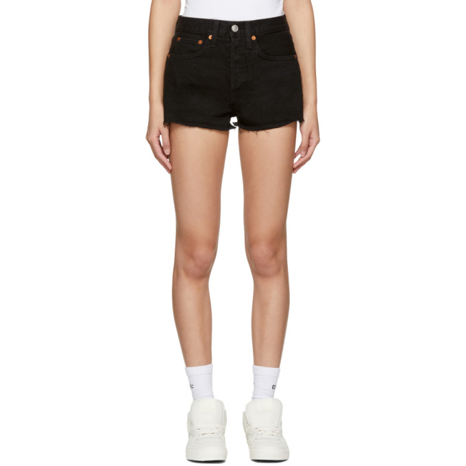Image of Re/Done Black Originals Denim 'The Shorts' Shorts
