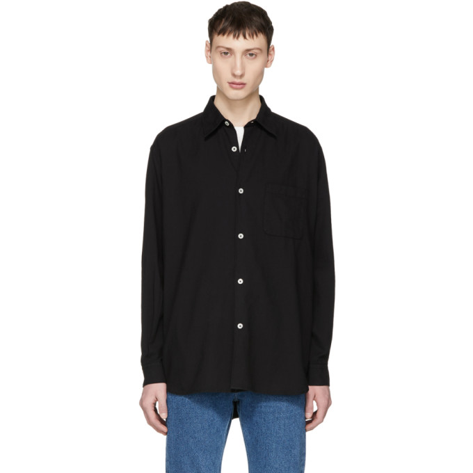 Image of Our Legacy Black Basket Weave Shirt