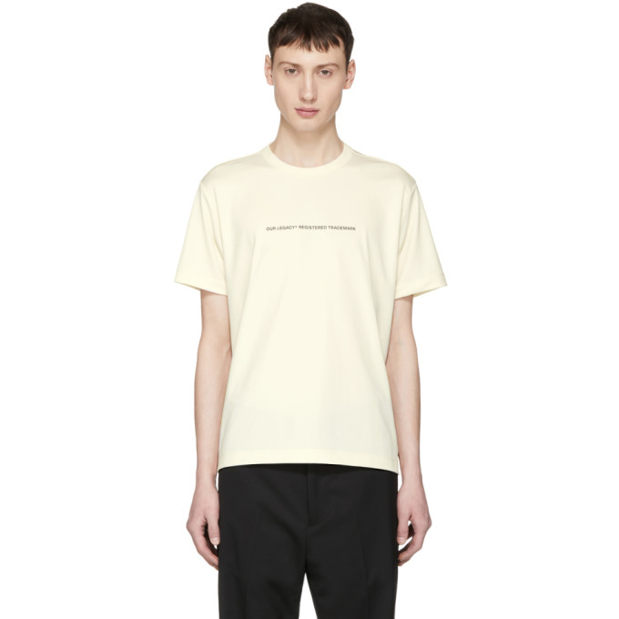 Image of Our Legacy Beige Box T-Shirt
