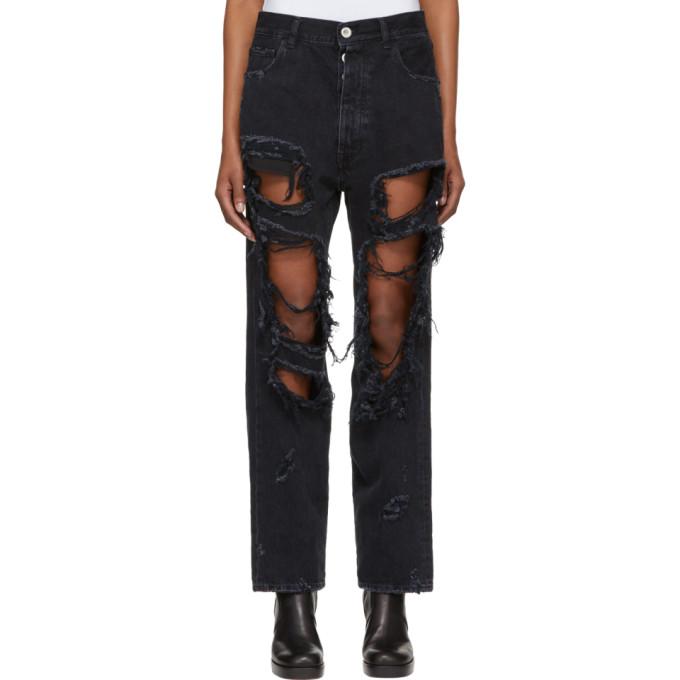 Image of Unravel Black Destory Baggy Jeans