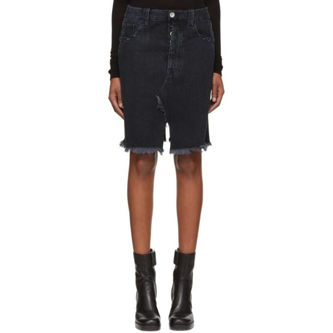 Image of Unravel Black Deconstructed Denim Miniskirt