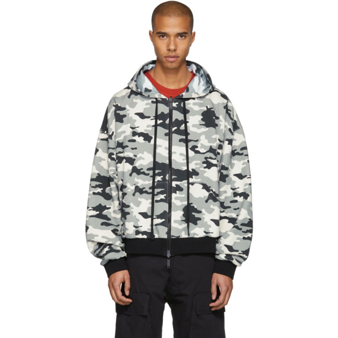 Image of Unravel Reversible White Camo Hoodie