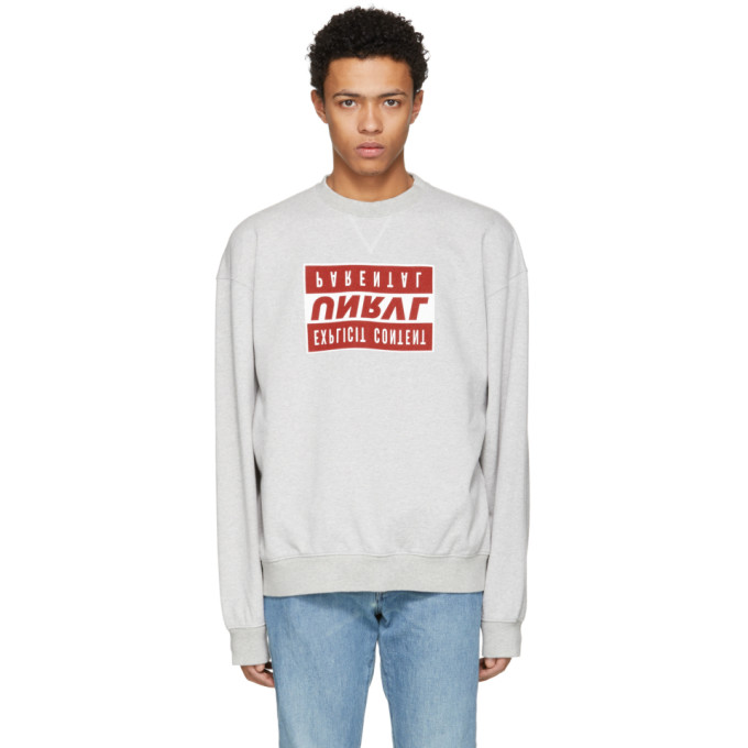 Unravel Grey Explicit Sweatshirt