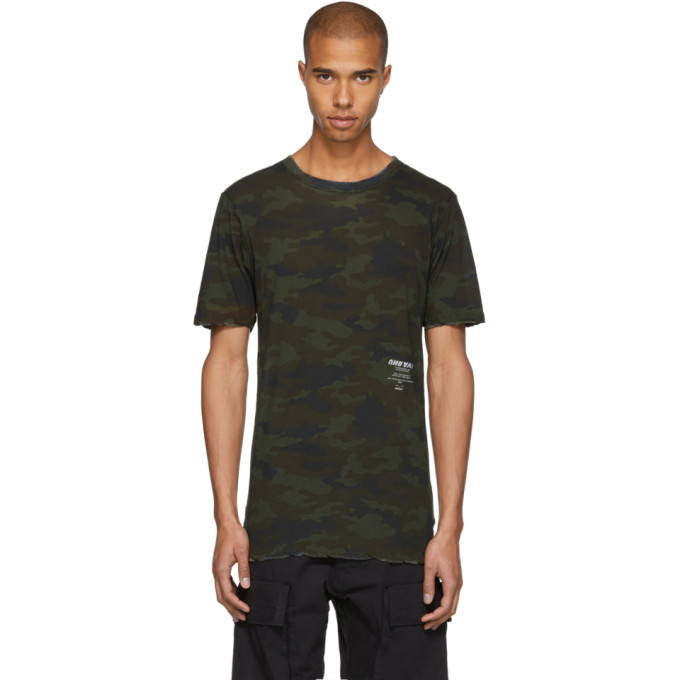 Image of Unravel Green Camo Tour Skate T-Shirt