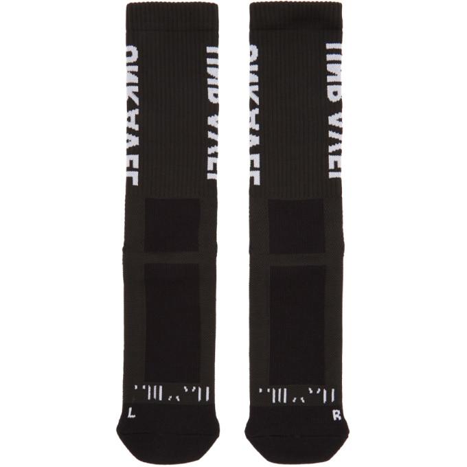 Image of Unravel Black Sideway Mid High Socks
