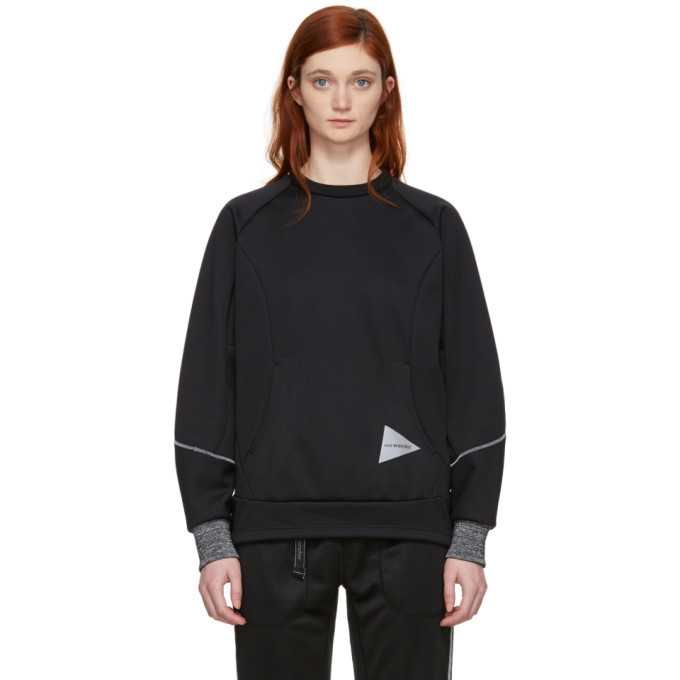 Image of and Wander Black Bonding Mesh Pullover Sweatshirt