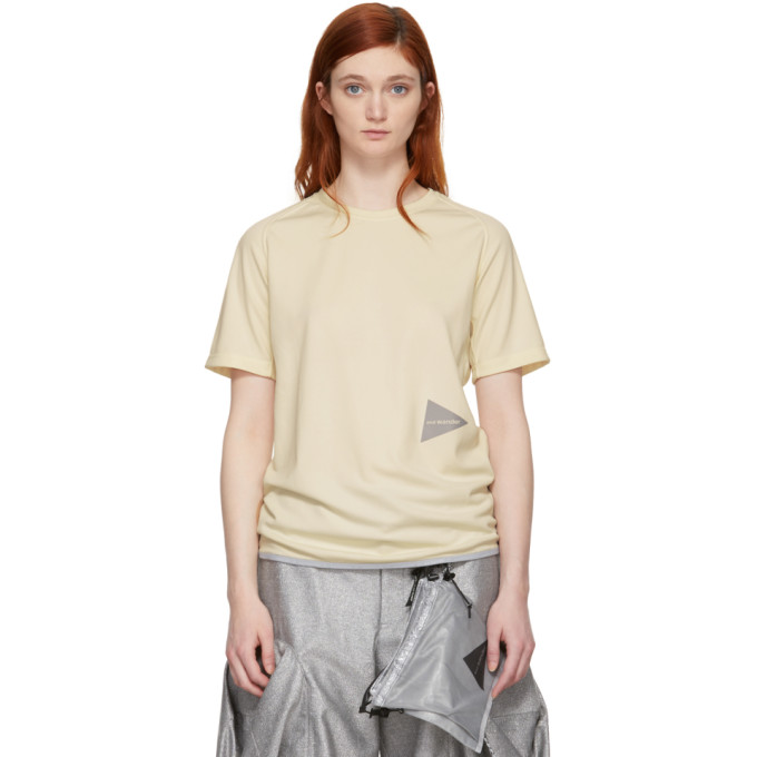 Image of and Wander Off-White Dry Jersey T-Shirt