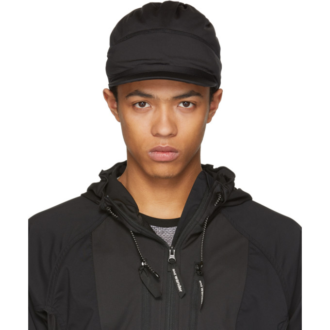 Image of and Wander Black Soft Shell Cap