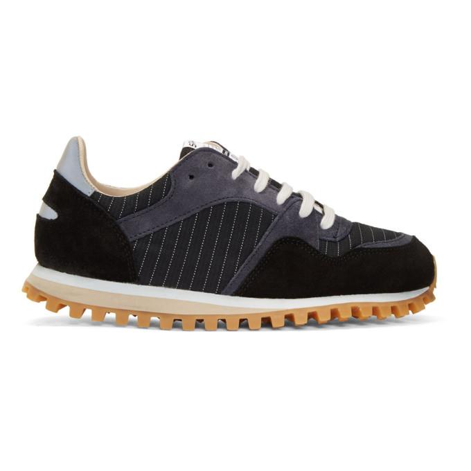 Image of Spalwart Navy Marathon Trail Pinstripe Sneakers