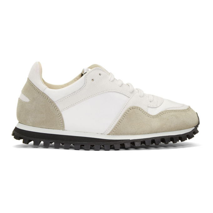 Image of Spalwart White & Beige Marathon Trail Sneakers