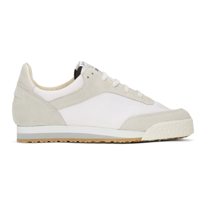 Image of Spalwart White & Grey Pitch Sneakers