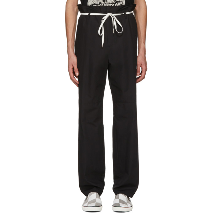 Ambush Black Khaki Shoe Laced Trousers