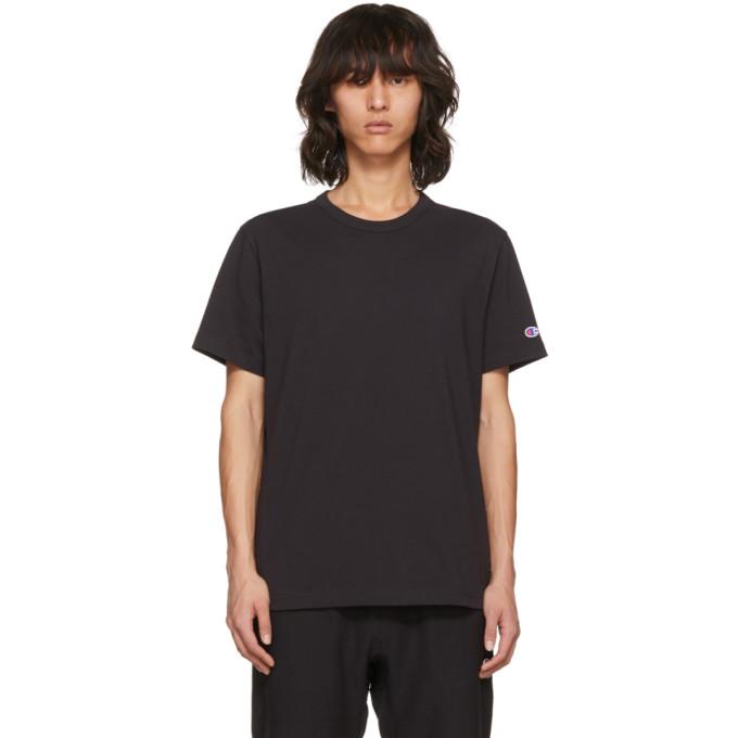 Image of Champion Reverse Weave Black Basic T-Shirt