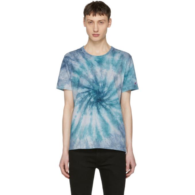 ac4f7011dda Champion Reverse Weave Blue Tie Dye T Shirt