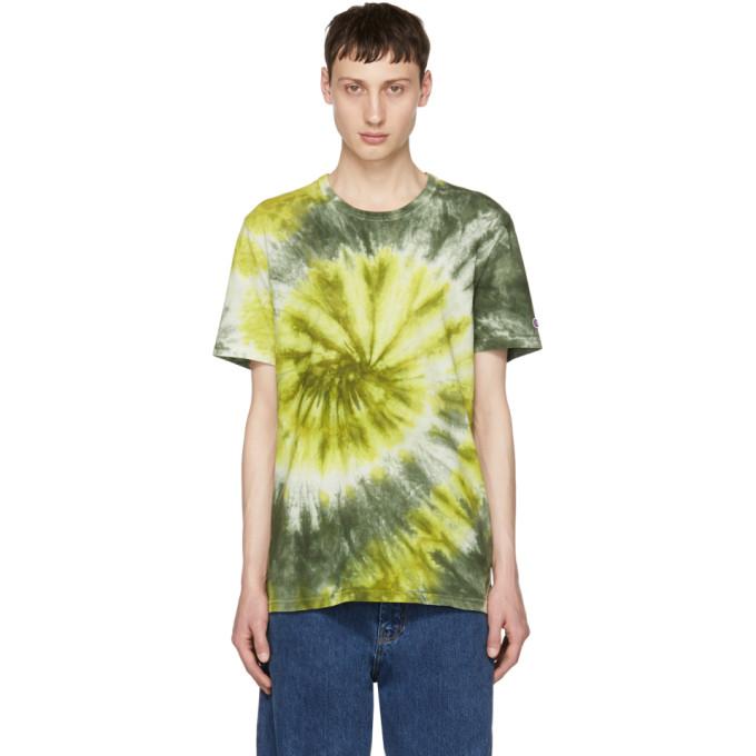 0d19b4828e1 Champion Reverse Weave Green Tie Dye T Shirt