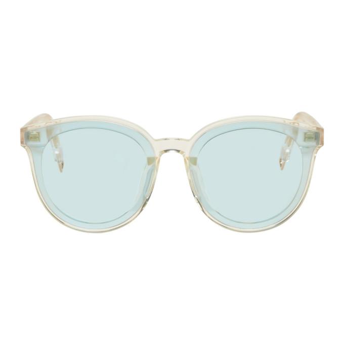 Image of Gentle Monster Blue 'Black Peter' Sunglasses
