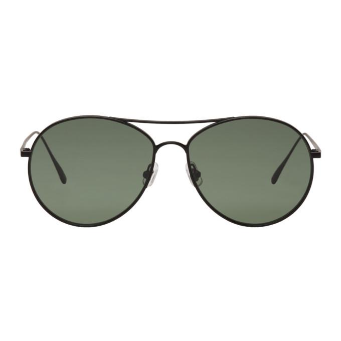 Image of Gentle Monster Black & Green Ranny Ring Aviator Sunglasses