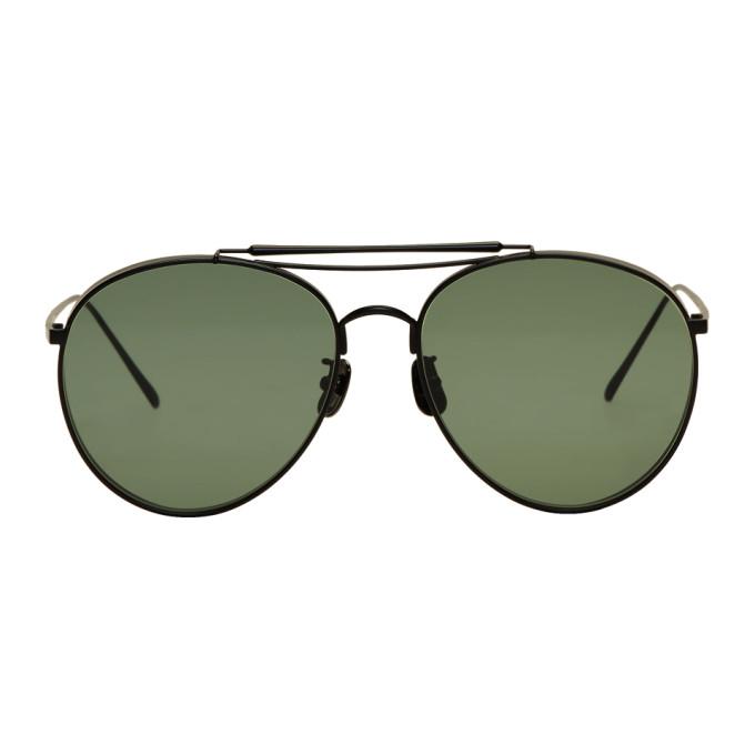 Image of Gentle Monster Black & Green Big Bully Sunglasses