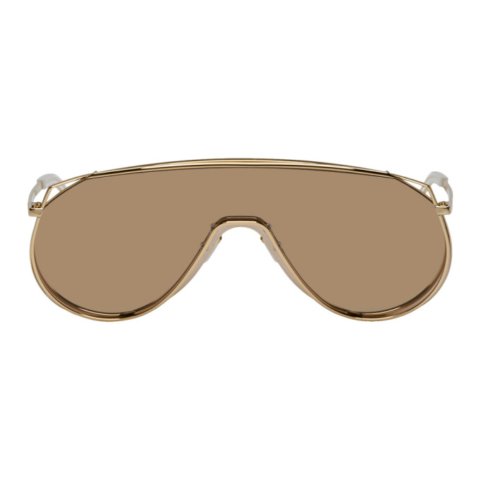 Image of Gentle Monster Gold & Pink Afix Sunglasses