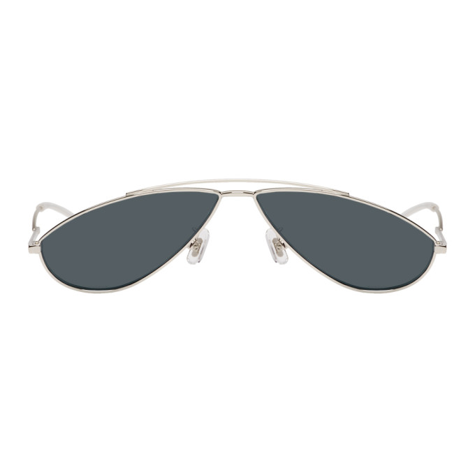 Image of Gentle Monster Silver & Blue Kujo Sunglasses