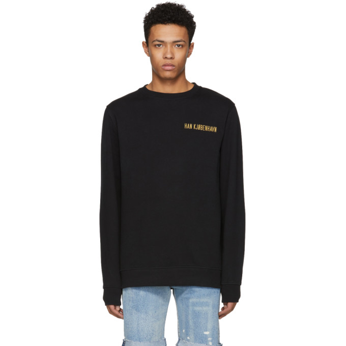 Image of Han Kjobenhavn Black Casual Logo Sweatshirt
