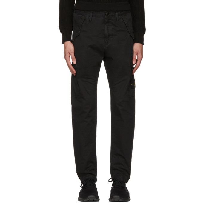 Image of Stone Island Black Cargo Pants
