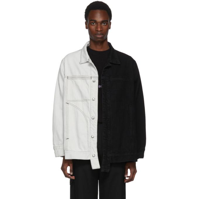 Image of Eckhaus Latta Black & White Denim Jacket