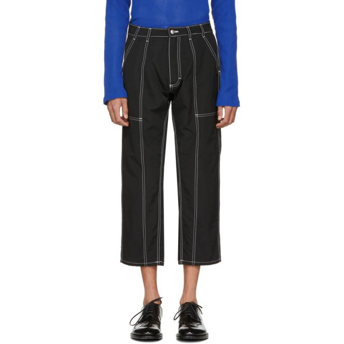 Image of Eckhaus Latta Black Blunt Trousers