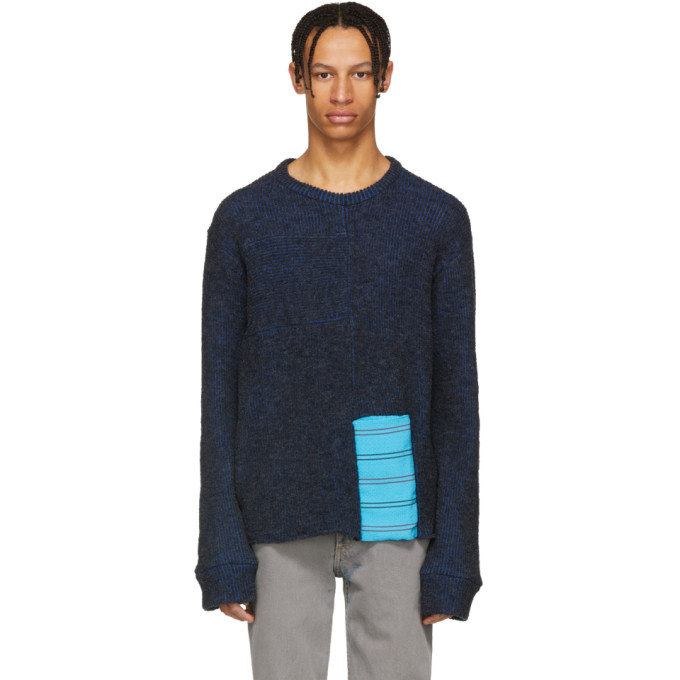 Eckhaus Latta Blue Scrubbie Sweater