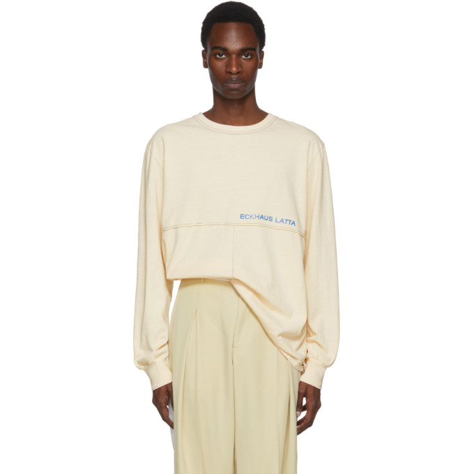 Eckhaus Latta Off-White Long Sleeve Lapped T-Shirt
