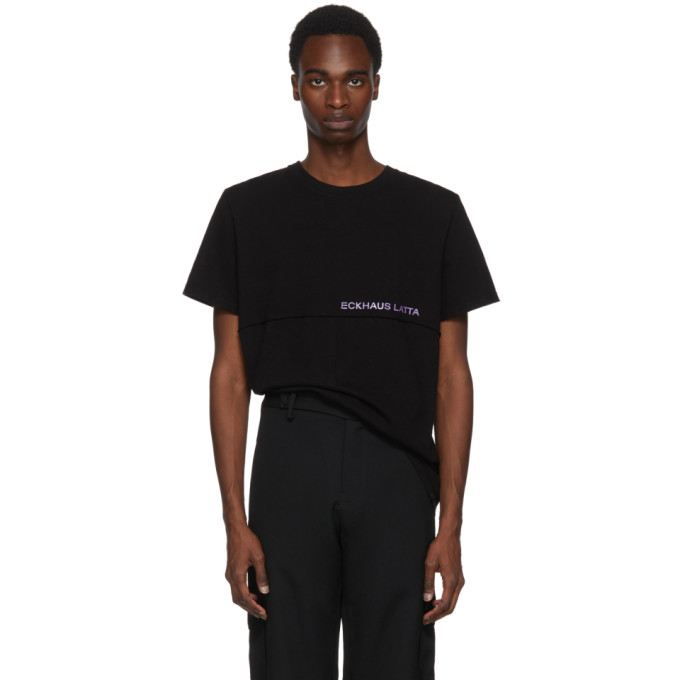 Image of Eckhaus Latta Black SSENSE Exclusive Lapped T-Shirt