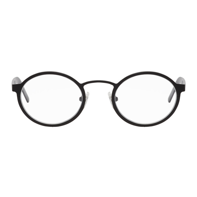 Image of BLYSZAK Black Signature Oval Glasses
