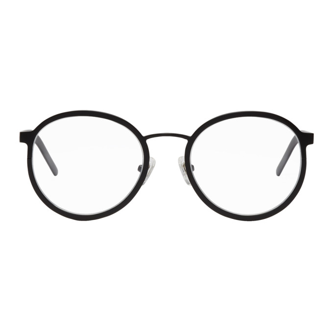 Image of BLYSZAK Black Large Round Collection IV Glasses