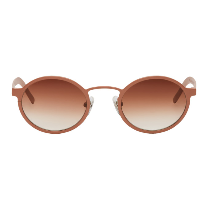 Image of BLYSZAK Pink Signature Oval Sunglasses
