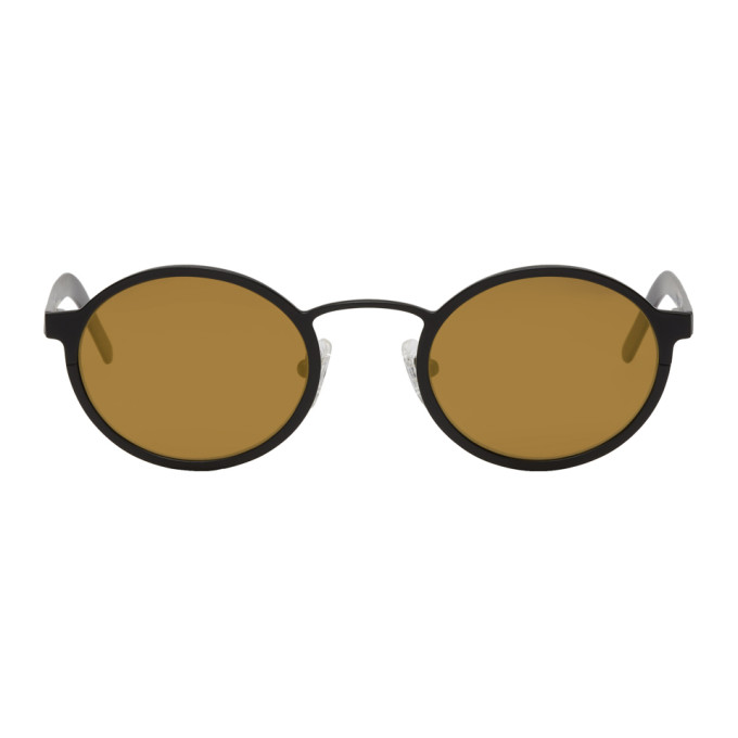 Image of BLYSZAK Black & Bronze Signature Oval Sunglasses