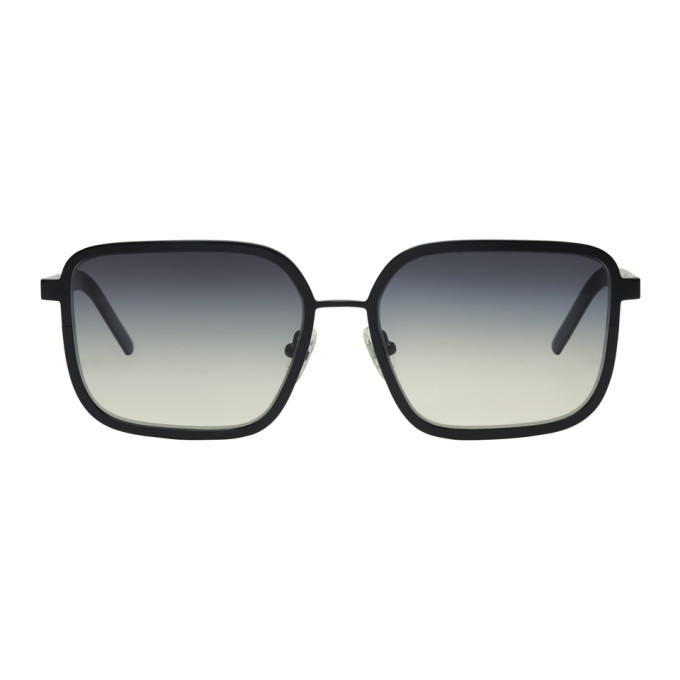 Image of BLYSZAK Black Large Square Collection V Sunglasses