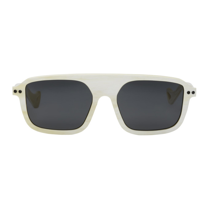 Image of BLYSZAK SSENSE Exclusive White Horn Sport Collection Sunglasses
