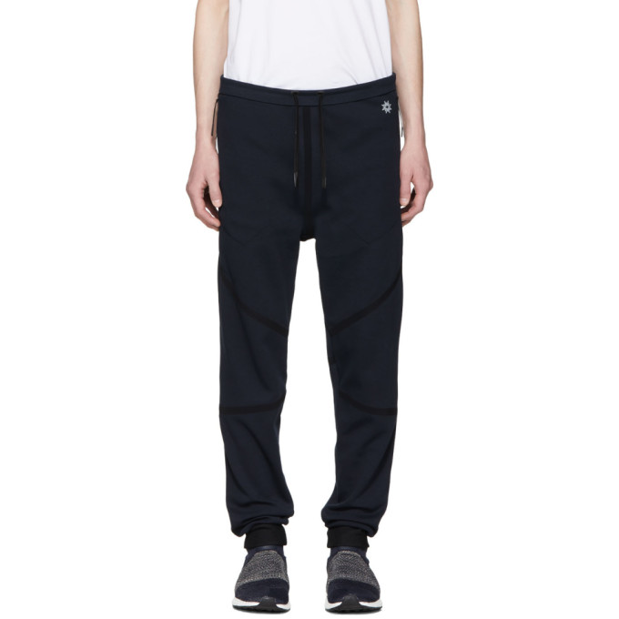 Image of ISAORA Navy Taped Quick Dry Lounge Pants