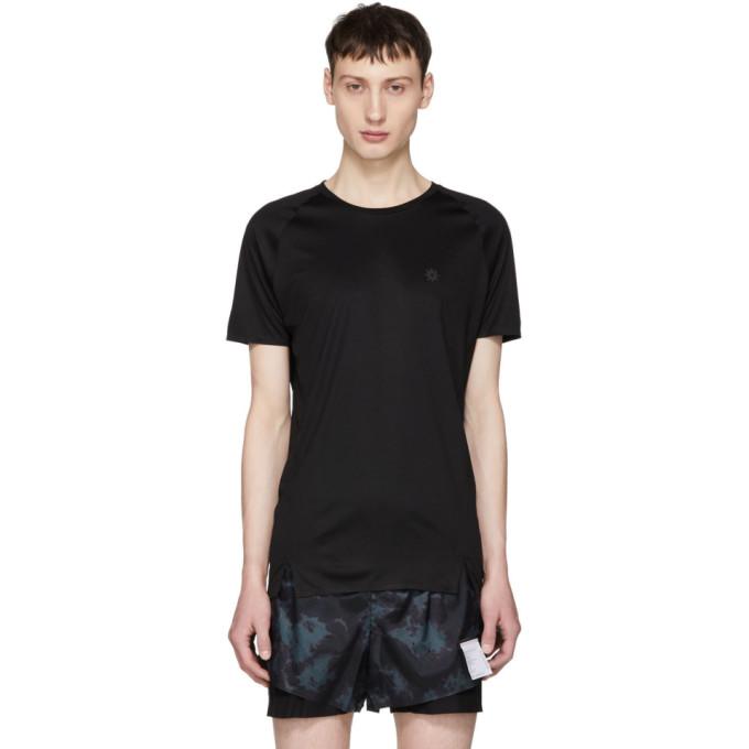 Image of ISAORA Black Quick Dry Welded Raglan T-Shirt