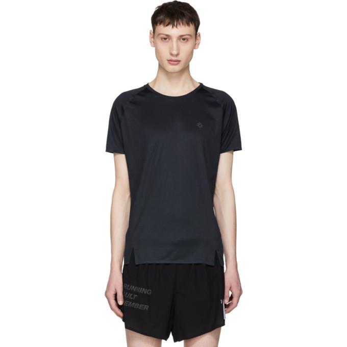 Image of ISAORA Navy Quick Dry Welded Raglan T-Shirt
