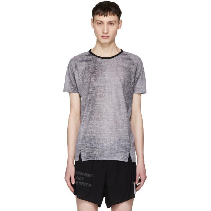 Image of ISAORA Black Welded Digital Mesh Raglan T-Shirt