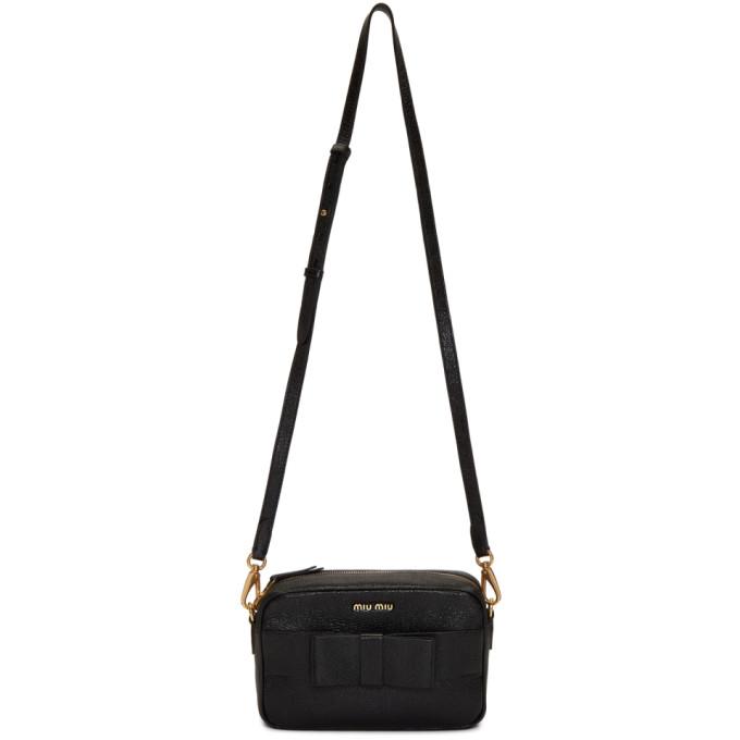 Image of Miu Miu Black Bow Camera Bag