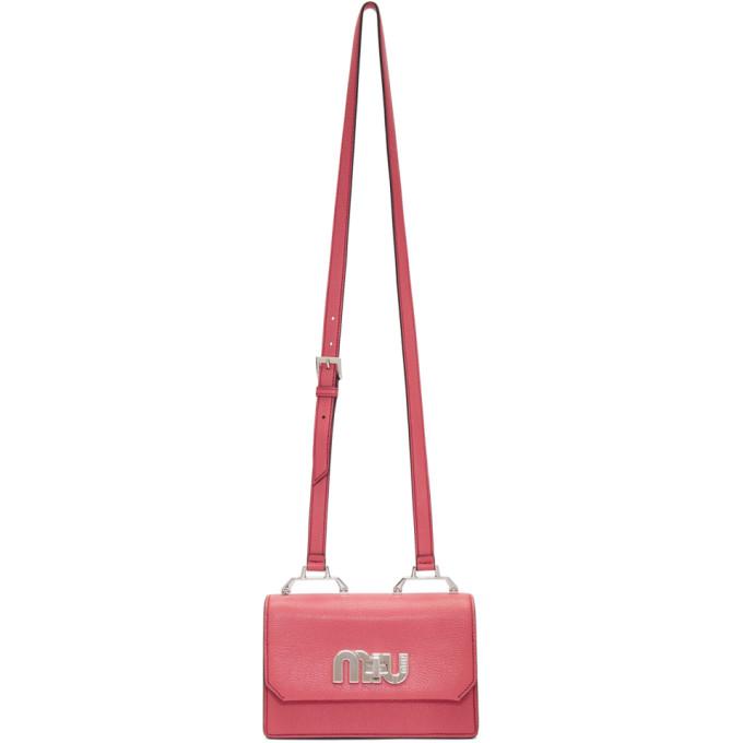 Miu Miu Pink & Blue Small 'Miu Logo' Bag