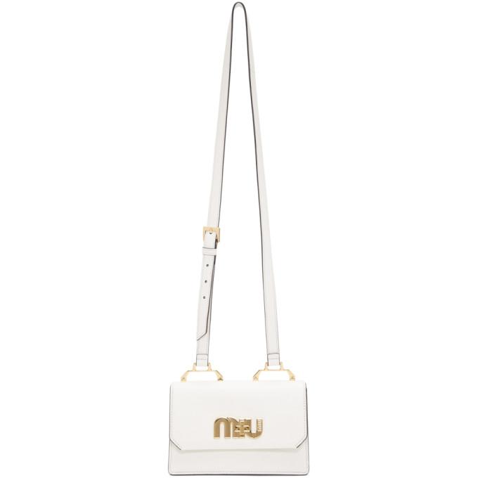 Miu Miu White Small Logo Crossbody Bag