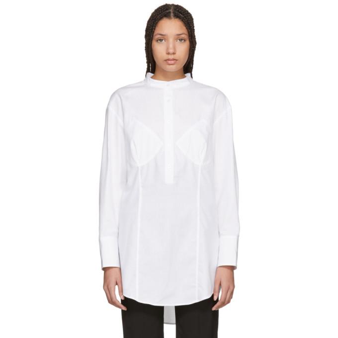 Image of Wendelborn White Darted Bra Shirt