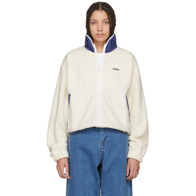 032c 032c white wwb fleece jacket