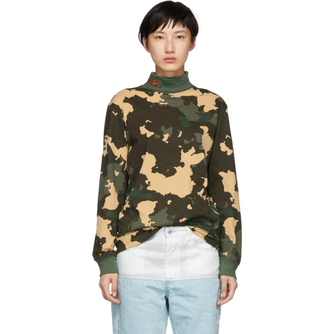 032c Green Camouflage WWB Turtleneck 181843F09900103