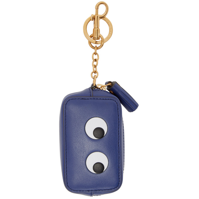 Image of Anya Hindmarch Blue Eyes Coin Purse Keychain